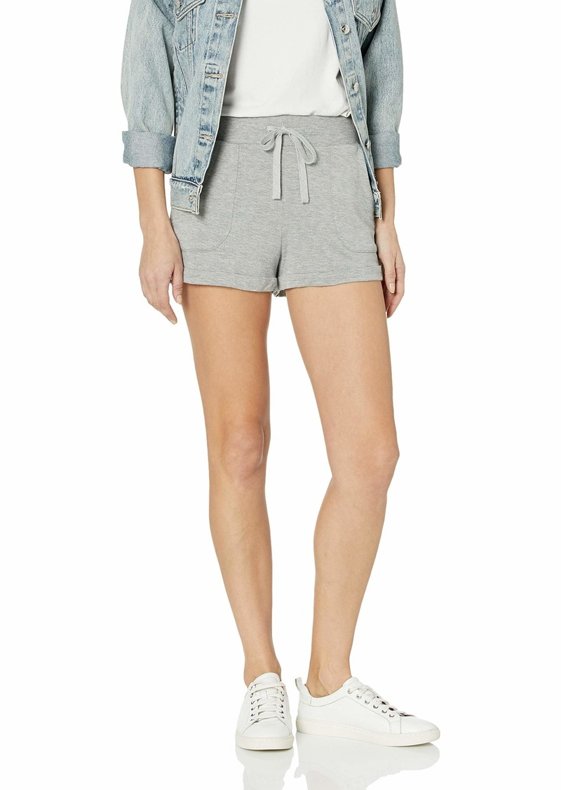 BB Dakota Women's roll with it French Terry roll Cuff Short heather grey large