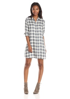 BB Dakota Women's Ruger Plaid Tencel hift Dress  mall