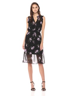 BB Dakota Women's Sarah Floral Print Midi Dress