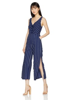 BB Dakota Women's Scout Lace up Pinstripe Jumpsuit