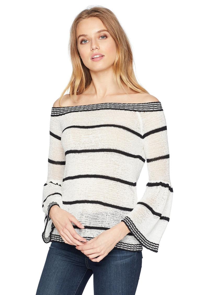 dcb7c50e1bc BB Dakota BB Dakota Women s Shelly Striped Off The Shoulder Sweater ...