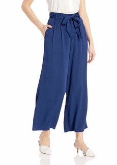 BB Dakota Womens shes Sophisticated Rayon Cropped Pant with tie Belt vintage blue