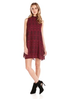 BB Dakota Women's Skyla Siesmic Print Mock Neck Dress