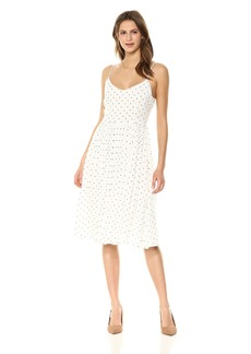 BB Dakota Women's Sloane Polka Dot Midi Dress