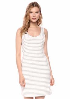 BB Dakota Women's Summer Night City Striped French Terry Dress  large