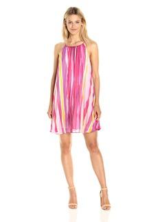 BB Dakota Women's Summerlyn Pleated Chiffon Print Dress
