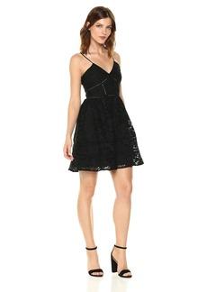BB Dakota Women's Sutton Fit N Flare Lace Dress