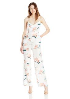 BB Dakota Women's Tara Floral Print Crepe Jumpsuit