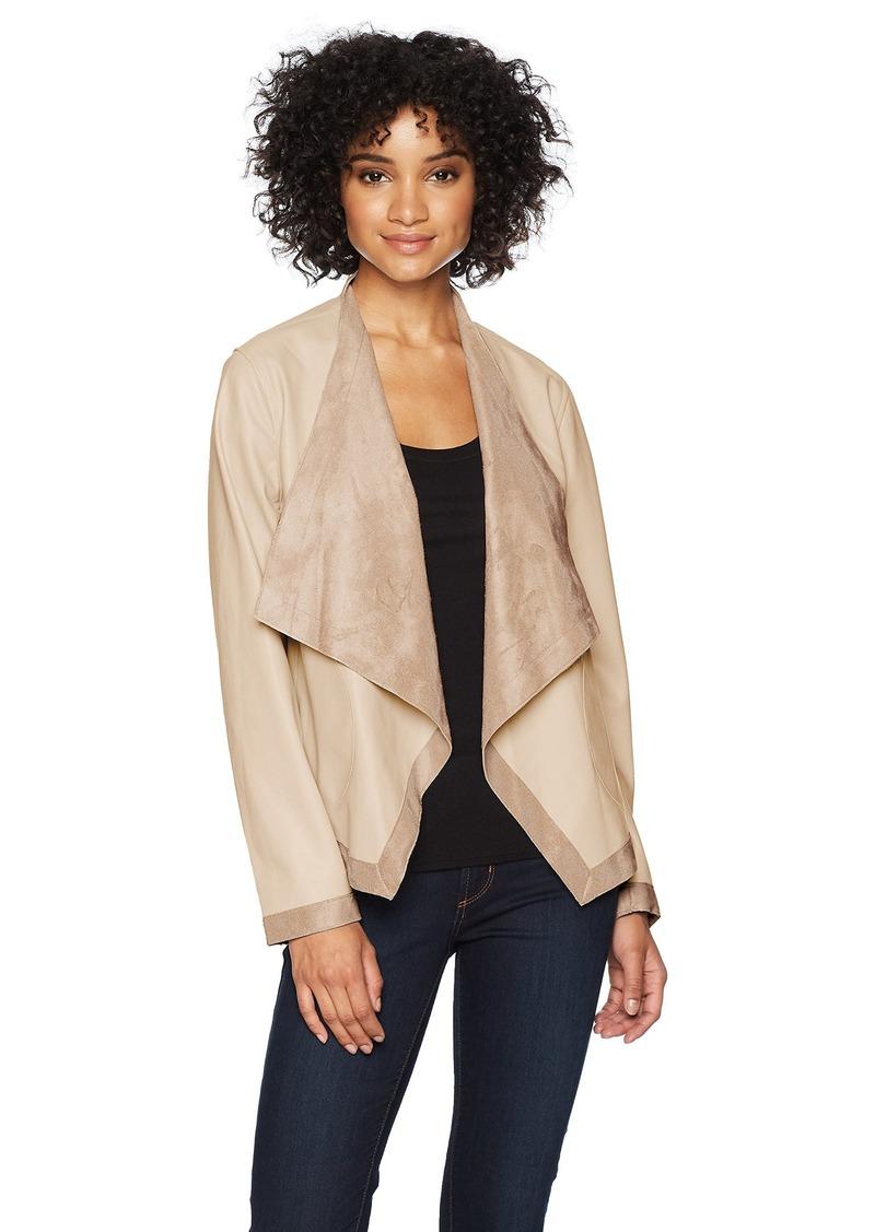 BB Dakota Womens Teagan Reversable Vegan Leather Jacket