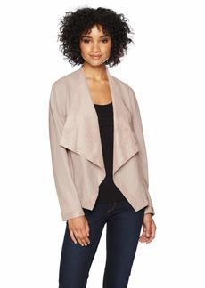 BB Dakota Women's Teagan Reversible Drape Front Jacket  Extra Small