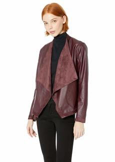 BB Dakota Women's Teagan Reversible Drape Front Jacket fig