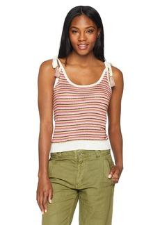 BB Dakota Women's Tracie Tie Shoulder Striped Sweater Tank