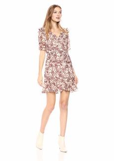 BB Dakota Women's Twirl Wind Paisley Print Dress
