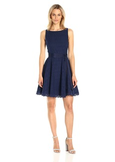 BB Dakota Women's Ty Eyelet Lace Fit N Flare Dress