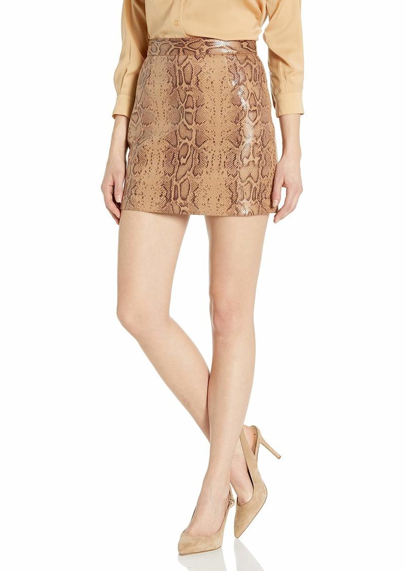 BB Dakota Women's Vegan Leather Mini Skirt