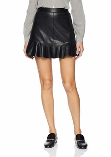 BB Dakota Women's Veni vidi vici Vegan Leather Skirt