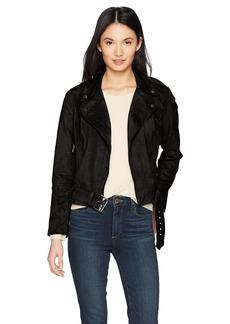 BB Dakota Women's Waller Faux Suede Moto Jacket