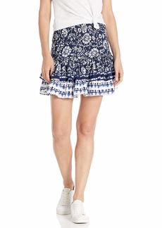BB Dakota Women's Well Traveled Printed Skirt  small