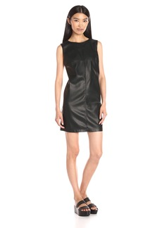 BB Dakota Women's Westley Veagan Leather Shift Dress