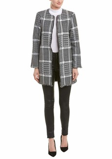 BB Dakota Women's What's Your Damage Houndstooth Coat  Small