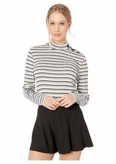 BB Dakota Women's When in Rome Lurex Stripe Long Sleeve top