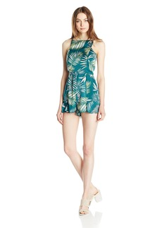 BB Dakota Women's Wilder Printed Crepe Romper