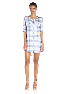 BB Dakota Women's William Plaid Shirt Dress