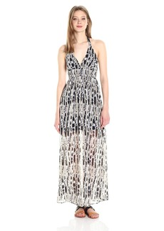 BB Dakota Women's Willow Printed Chiffon Maxi Dress