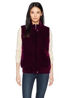 BB Dakota Women's Withers Velvet Puffer Vest