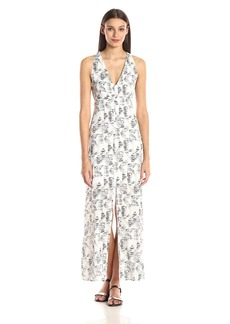 BB Dakota Women's Zana Shards Printed Crepe Maxi Dress