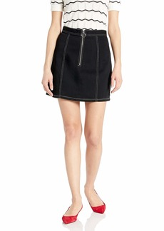 BB Dakota Womens zip to it zip front skirt black