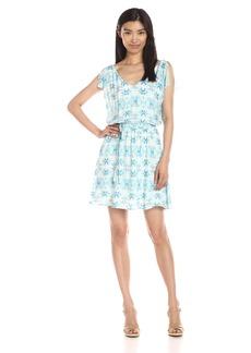 BB Dakota Women's Zoya Printed Rayon Twill Dress