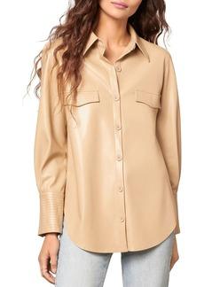 BB DAKOTA x STEVE MADDEN West Intentions Faux Leather Shirt
