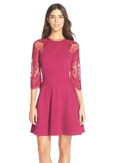 BB Dakota 'Yale' Lace Panel Fit & Flare Dress