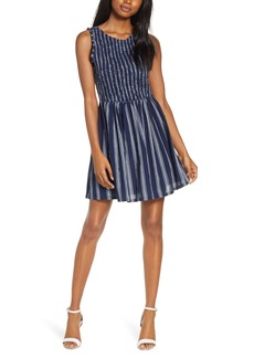 BB Dakota You Can Jive Stripe Smocked Dress