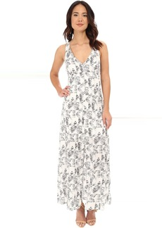 BB Dakota Zana Shards Printed Hammered Crepe Maxi
