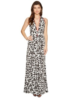 "BB Dakota Beah ""The Villas"" Printed Poly Habatai Maxi Dress"