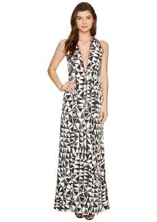 "BB Dakota Beah ""The Villas"" Printed Poly Habatai Maxi Dress"