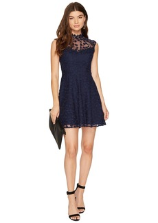 BB Dakota Becky High Neck Lace Dress