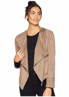 BB Dakota Big City Nights Faux Suede Drape Front Jacket