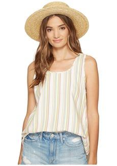 BB Dakota Bowe Stripe Cotton Rayon V-Back Tank Top