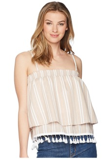 BB Dakota Brielle Stripe Top with Tassel Trim