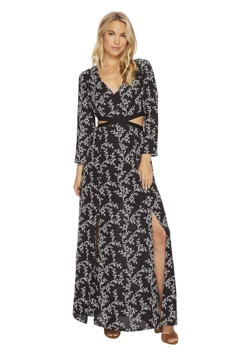 "BB Dakota Brook ""Midnight Floral"" Printed Maxi Dress with Cut Out"