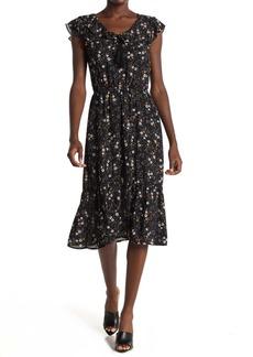 BB Dakota Budding Romance Floral Midi Dress