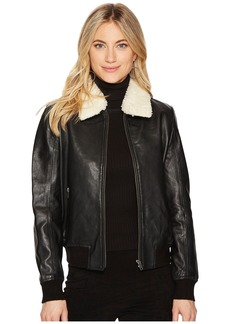 BB Dakota Burgess Sherpa Trim Leather Jacket