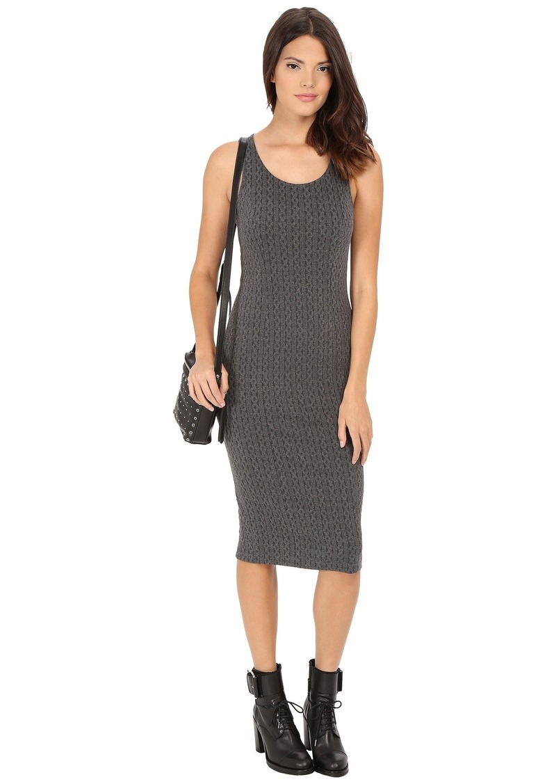BB Dakota Castel Cable Pattern Knit Jacquard Midi Dress