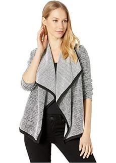 BB Dakota Chenille Good Inc Drape Front Two-Tone Chenille Knit Jacket