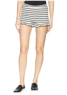 BB Dakota Comfy Queen Striped High-Waisted Ruffle Shorts