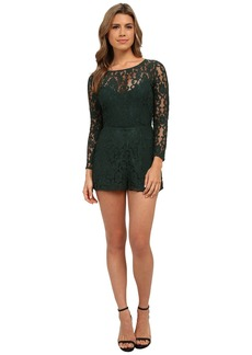 BB Dakota Dasha Long Sleeve Lace Romper
