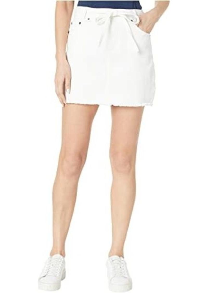 BB Dakota Denim Skirt with Tie Belt